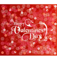 Valentines day card background text bokeh light vector image