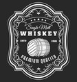 whiskey barrel label vector image vector image