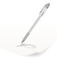 white ballpoint pen vector image vector image