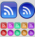 Wifi Wi-fi Wireless Network icon sign A set of vector image