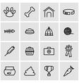 line pet icon set vector image