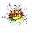2019 happy new year pop art vector image