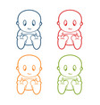 a collection of baby pictures and some colors vector image