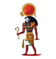 ancient egypt sun god ra cartoon vector image