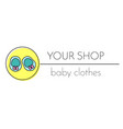baby shop logo template booties sign label
