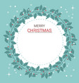 beautiful christmas card of holly branches bow vector image vector image