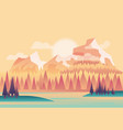 beautiful fields landscape vector image