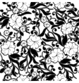 Black and white abstract floral background vector image vector image