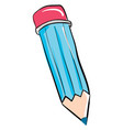blue pencil on white background vector image vector image