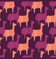 boho pink purple and orange llama silhouette vector image vector image