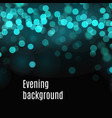 bokeh background blue and green blurred lights vector image