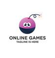 bomb games online logo vector image vector image