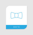 bow tie icon white background vector image vector image
