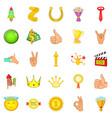 bursary icons set cartoon style vector image vector image