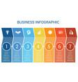 business infographic design for timeline seven vector image vector image