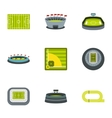 Championship icons set flat style vector image vector image