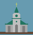 church on white background vector image vector image
