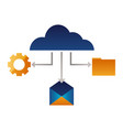 cloud computing email file setting vector image vector image