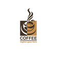 coffee cup label vector image vector image