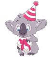 cute and happy cartoon koala vector image vector image
