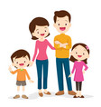 cute family portrait vector image vector image