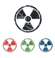 Danger grunge icon set vector image vector image