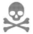 death skull halftone icon vector image