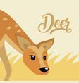 deer cute animal cartoon vector image vector image
