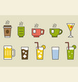 drinks and beverage vector image