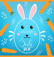 easter discount with lettering inscription vector image vector image