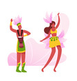 excited drummer playing drums beautiful girl in vector image vector image