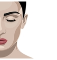 Fashion beauty half Face female Model vector image vector image