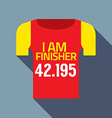 Finisher Tee Of Marathon Runner vector image
