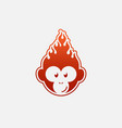 fire monkey vector image vector image