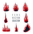 fire set collection vector image vector image