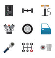 flat icon auto set of automatic transmission vector image vector image