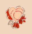 floral heart design element for greeting cards vector image