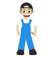 foreman cartoon mascot vector image vector image