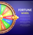 fortune wheel poster place for text full length vector image vector image