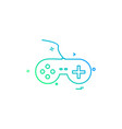 game console icon design vector image
