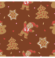 Gingerbread seamless pattern for christmas