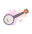 guitar for country music banjo string plucked vector image