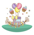happy birthday cartoons vector image vector image