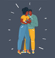 happy dark skinned parents hugging a small baby vector image vector image