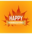 Happy Thanksgiving Day celebrations greeting card vector image vector image