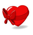 heart tied with ribbon bow vector image vector image