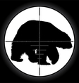 Hunter sniper scope vector image