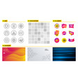 idea mail and comments icons face detect vector image vector image