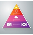 infographics paper triangle vector image