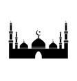 islamic mosque pictogram depicting a mosque black vector image